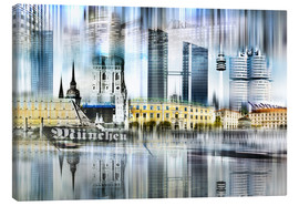 Canvas print  Munich Germany - Städtecollagen