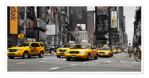 Premium poster New York City -Yellow Cabs