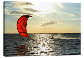 Canvas  Kite surfers on the high seas - HADYPHOTO by Hady Khandani