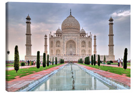 Canvas  Taj Mahal - Mausoleum in Agra - HADYPHOTO by Hady Khandani