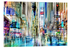 Acrylic print  USA NYC New York Abstrakte Skyline Collage - Städtecollagen