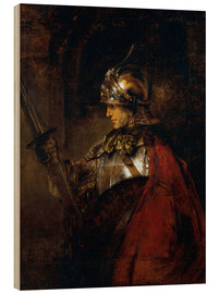 Wood print  Alexander the Great - Rembrandt van Rijn
