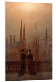 Foam board print  Night port - Caspar David Friedrich