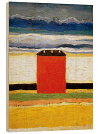Wood print  The red house - Kasimir Sewerinowitsch  Malewitsch