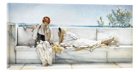 Acrylic print  A Question - Lawrence Alma-Tadema