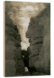 Wood print  Rock gate Uttenwalder Grund - Caspar David Friedrich