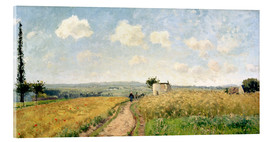 Acrylic print  June Morning near Pontoise - Camille Pissarro