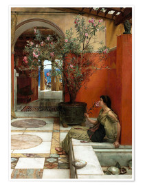 Premium poster  The Oleander - Lawrence Alma-Tadema