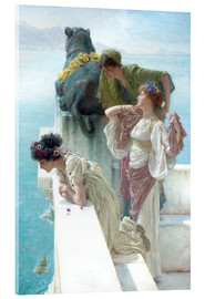 Acrylic glass  Coigne of vantage - Lawrence Alma-Tadema