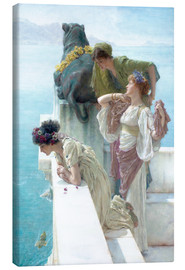 Canvas  Coigne of vantage - Lawrence Alma-Tadema
