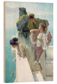 Wood print  Coigne of Vantage - Lawrence Alma-Tadema