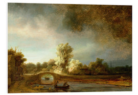 Foam board print  The Stone Bridge - Rembrandt van Rijn