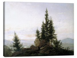Canvas  View into the Elbe valley - Caspar David Friedrich