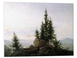 Foam board print  View into the Elbe valley - Caspar David Friedrich