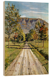 Wood print  Road to Evordes - Ferdinand Hodler