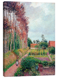 Canvas print  Farm of Auberge Ango - Camille Pissarro