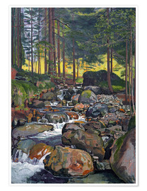 Premium poster  Forest with Mountain Brook - Ferdinand Hodler