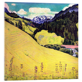Acrylic print  View of the Blüemlisalp - Ferdinand Hodler