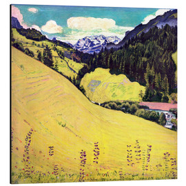 Aluminium print  View of the Blüemlisalp - Ferdinand Hodler