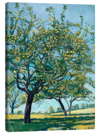 Canvas print  Paddock with apple trees - Ferdinand Hodler