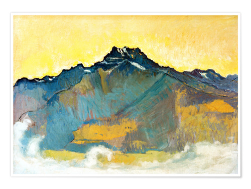 Premium poster The Dents du Midi from Chesieres