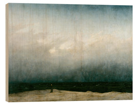 Wood print  Monk by the Sea - Caspar David Friedrich