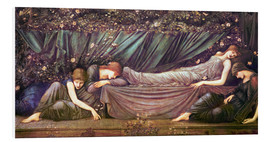Foam board print  Briar Rose - The Rose Bower - Edward Burne-Jones