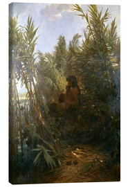 Canvas print  Pan in the reed - Arnold Böcklin