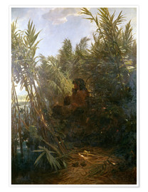 Premium poster  Pan in the reed - Arnold Böcklin
