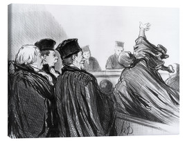 Canvas print  Like Demosthenes - Honoré Daumier