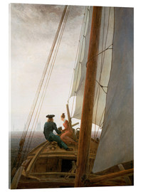 Acrylic glass  On the Sailing ship - Caspar David Friedrich