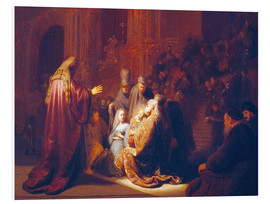 Foam board print  Simeon in the Temple - Rembrandt van Rijn