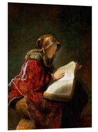 Foam board print  Prophetess Anna or mother - Rembrandt van Rijn