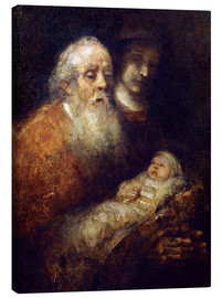 Canvas  Simeon w.Christ Child - Rembrandt van Rijn
