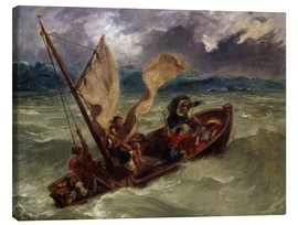 Canvas print  Jesus on Sea of Galilee - Eugene Delacroix