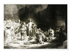 Premium poster  Hundred Guilder Print - Rembrandt van Rijn