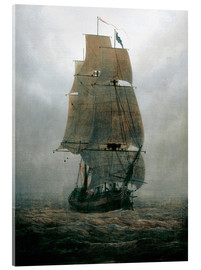 Acrylic glass  Sailing ship in the fog - Caspar David Friedrich