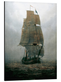 Aluminium print  Sailing ship in the fog - Caspar David Friedrich