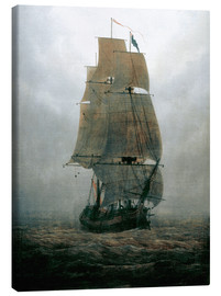 Canvas  Sailing ship in the fog - Caspar David Friedrich