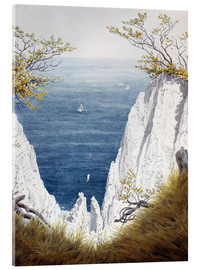 Acrylic glass  Chalk cliffs on Rugen island - Caspar David Friedrich