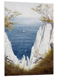 Foam board print  Chalk cliffs on Rugen island - Caspar David Friedrich