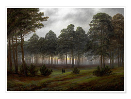 Premium poster  Evening - Caspar David Friedrich