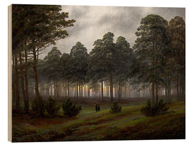 Wood print  Evening - Caspar David Friedrich