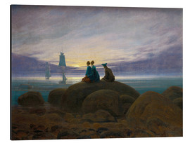 Aluminium print  Moonrise by the Sea - Caspar David Friedrich