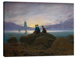 Canvas  Moonrise by the Sea - Caspar David Friedrich