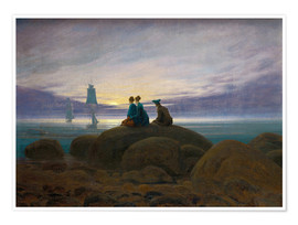 Premium poster  Moonrise by the Sea - Caspar David Friedrich
