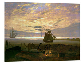 Acrylic glass  Evening at the Baltic Sea - Caspar David Friedrich