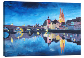 Canvas print  Regensburg at Dawn - M. Bleichner