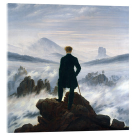 Acrylic glass  The Wanderer Above the Sea of Fog - Caspar David Friedrich