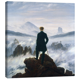 Canvas  The Wanderer Above the Sea of Fog - Caspar David Friedrich